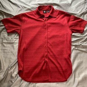 G by Guess Red Stretch Button Down Shirt Size S
